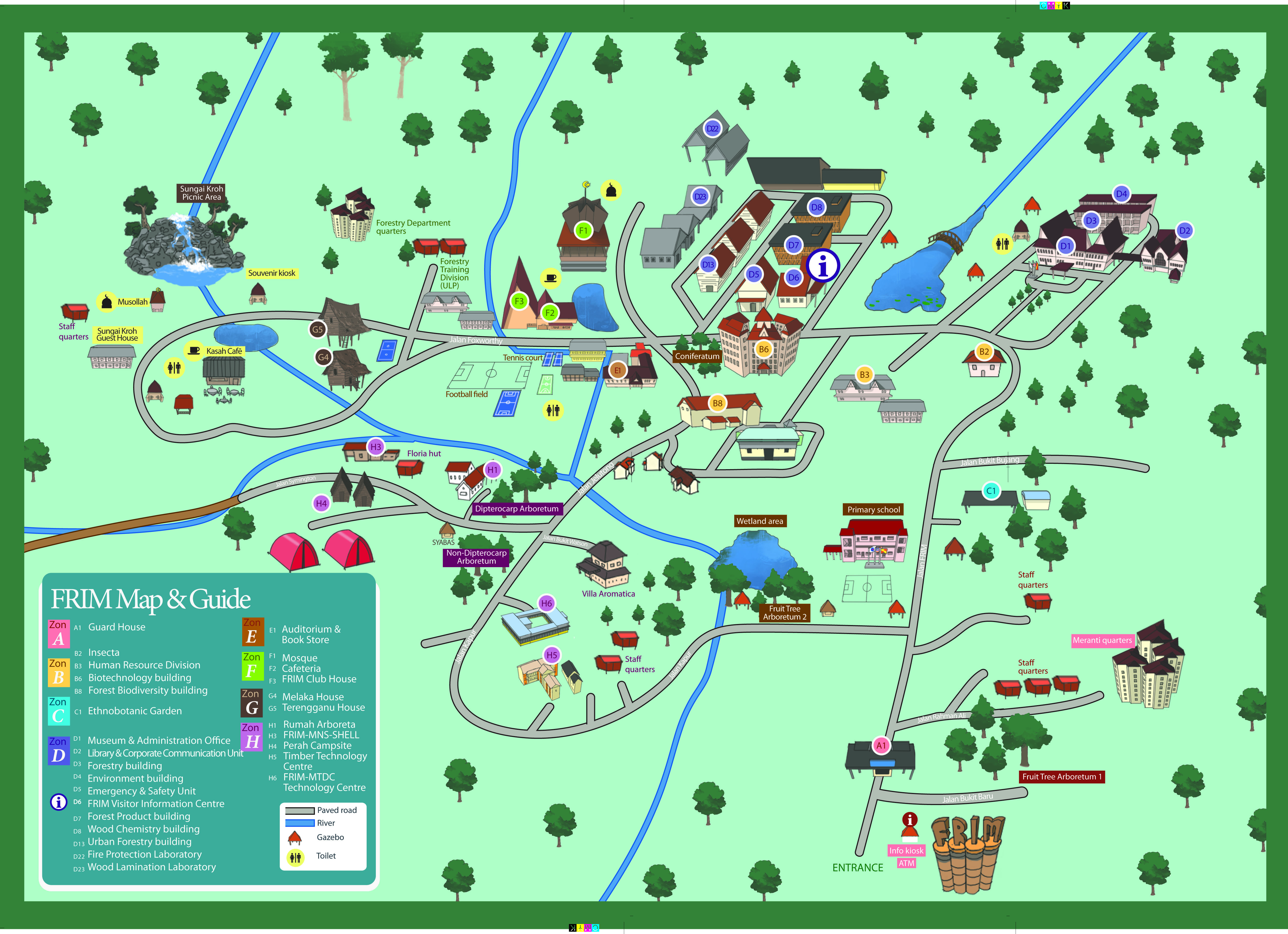 Campus Map Forest Research Institute Malaysia Frim